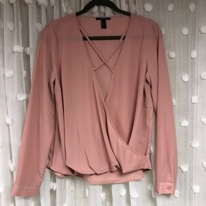 Dusty Rose long sleeve blouse
